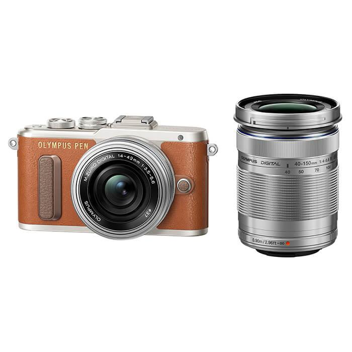 《新品》 OLYMPUS(オリンパス) PEN E-PL8 EZダブルズームキット ブラウン[ ミラーレス一眼カメラ | デジタル一眼カメラ | デジタルカメラ ]【KK9N0D18P】