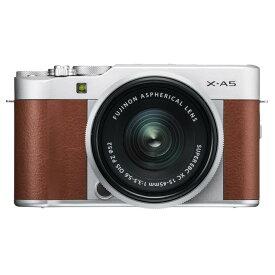 《新品》 FUJIFILM(フジフイルム) X-A5 レンズキット ブラウン[ ミラーレス一眼カメラ | デジタル一眼カメラ | デジタルカメラ ] 【KK9N0D18P】