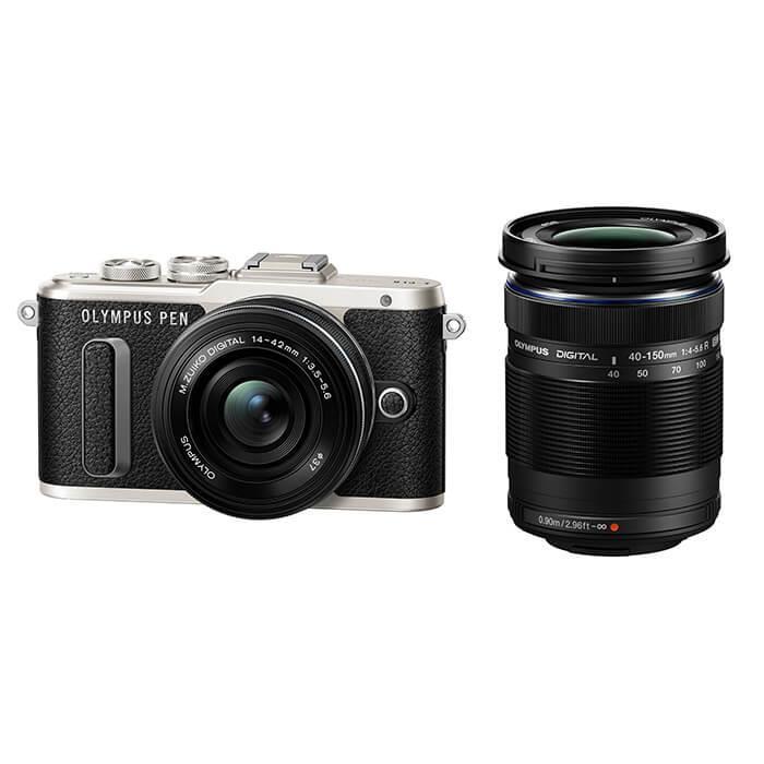 《新品》 OLYMPUS(オリンパス) PEN E-PL8 EZダブルズームキット ブラック[ ミラーレス一眼カメラ | デジタル一眼カメラ | デジタルカメラ ]【KK9N0D18P】