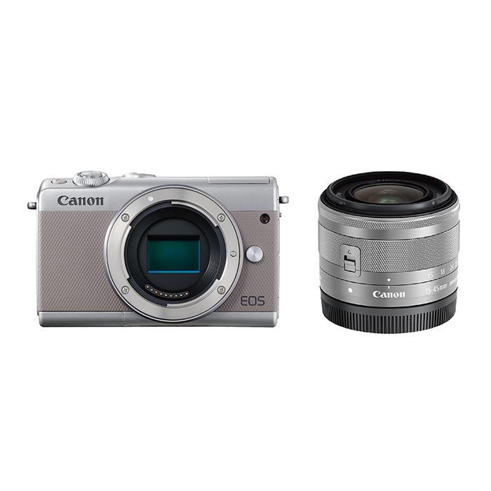《新品》 Canon (キヤノン) EOS M100 EF-M15-45 IS STM レンズキット グレー [ ミラーレス一眼カメラ | デジタル一眼カメラ | デジタルカメラ ] 【KK9N0D18P】