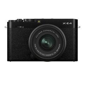 《新品》FUJIFILM (フジフイルム) X-E4 XC15-45mmレンズキット ブラック〔納期未定・予約商品〕[ ミラーレス一眼カメラ   デジタル一眼カメラ   デジタルカメラ ] 【KK9N0D18P】