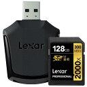 《新品アクセサリー》 LEXAR(レキサー) Professional 2000x SDXCカード UHS-II 128GB LSD128GCRB【KK9N0D...