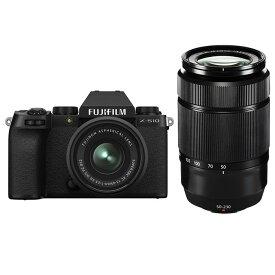 《新品》FUJIFILM (フジフイルム) X-S10 ダブルズームレンズキット ブラック [ ミラーレス一眼カメラ | デジタル一眼カメラ | デジタルカメラ ] 【KK9N0D18P】