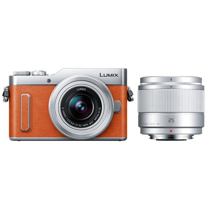 《新品》Panasonic (パナソニック) LUMIX DC-GF10W ダブルレンズキット オレンジ[ ミラーレス一眼カメラ | デジタル一眼カメラ | デジタルカメラ ]【キャッシュバックキャンペーン対象】【KK9N0D18P】
