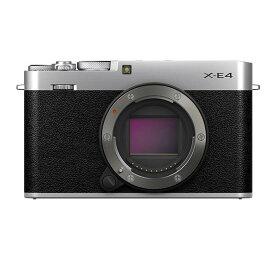 《新品》FUJIFILM (フジフイルム) X-E4 ボディ シルバー〔納期未定・予約商品〕[ ミラーレス一眼カメラ | デジタル一眼カメラ | デジタルカメラ ] 【KK9N0D18P】