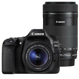《新品》 Canon(キヤノン) EOS 80D ダブルズームキット [ デジタル一眼レフカメラ   デジタル一眼カメラ   デジタルカメラ ]【KK9N0D18P】