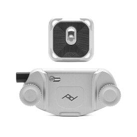 《新品アクセサリー》 peak design (ピークデザイン) キャプチャーカメラクリップ V3 スタンダードプレート付き シルバー 【KK9N0D18P】 [ ストラップ ]