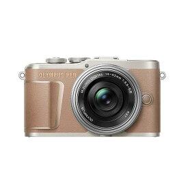 《新品》OLYMPUS (オリンパス) PEN E-PL10 14-42mm EZレンズキット ブラウン[ ミラーレス一眼カメラ   デジタル一眼カメラ   デジタルカメラ ] 【KK9N0D18P】【¥5,000-キャッシュバック対象】