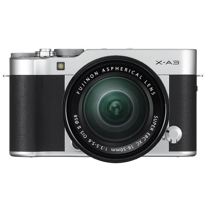《新品》 FUJIFILM(フジフイルム) X-A3 レンズキット シルバー[ ミラーレス一眼カメラ | デジタル一眼カメラ | デジタルカメラ ][小型軽量レンズ交換式カメラ特集]【KK9N0D18P】