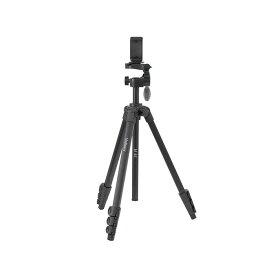《新品アクセサリー》 Velbon (ベルボン) ファミリー4段三脚 M45+スマートフォンホルダー セット【KK9N0D18P】