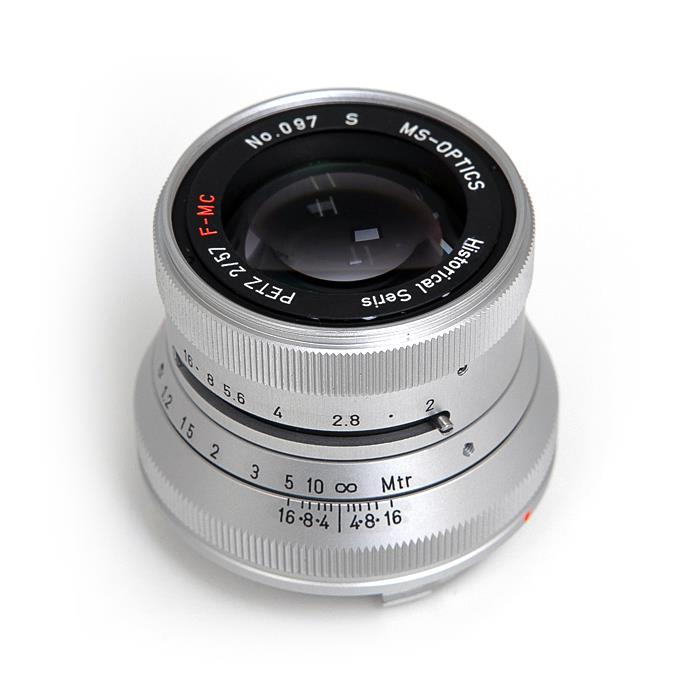 《新品》 MS-Optics (エムエスオプティックス) Petz M57mm F2 シルバー[ Lens   交換レンズ ]【KK9N0D18P】【数量限定特価】