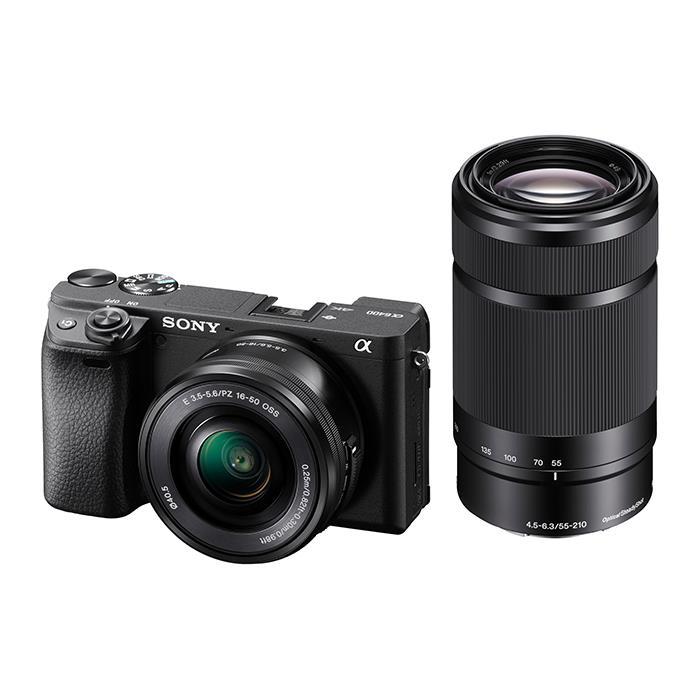 《新品》 SONY (ソニー) α6400 ダブルズームレンズキット ILCE-6400Y ブラック【¥20,000-キャッシュバック対象】[ ミラーレス一眼カメラ | デジタル一眼カメラ | デジタルカメラ ]【KK9N0D18P】
