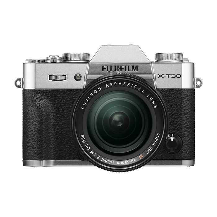 《新品》 FUJIFILM (フジフイルム) X-T30 XF18-55mmレンズキット シルバー [ ミラーレス一眼カメラ   デジタル一眼カメラ   デジタルカメラ ]【KK9N0D18P】【対象レンズと同時購入で¥20,000-キャッシュバック】