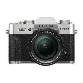 《新品》 FUJIFILM (フジフイルム) X-T30 XF18-55mmレンズキット シルバー【KK9N0D18P】