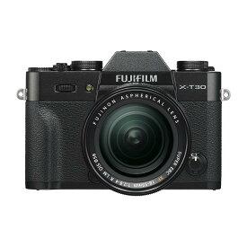 《新品》 FUJIFILM (フジフイルム) X-T30 XF18-55mmレンズキット ブラック【KK9N0D18P】