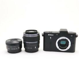 【あす楽】 【中古】 《良品》 Nikon Nikon 1 V1+10-30mm F3.5-5.6 PD-ZOOM+30-110mm F3.8 ブラック [ デジタルカメラ ]