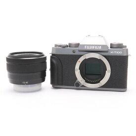 【あす楽】 【中古】 《並品》 FUJIFILM X-T100 レンズキット ダークシルバー [ デジタルカメラ ]
