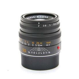 【あす楽】 【中古】 《美品》 Leica ズミクロン M50mm F2.0 レンズフード組込 (6bit) ブラック [ Lens | 交換レンズ ]