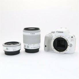 【あす楽】 【中古】 《美品》 Canon EOS Kiss X7 ダブルレンズキット II ホワイト [ デジタルカメラ ]