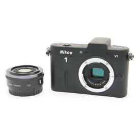 【あす楽】 【中古】 《良品》 Nikon Nikon 1 V1 薄型レンズキット ブラック [ デジタルカメラ ]