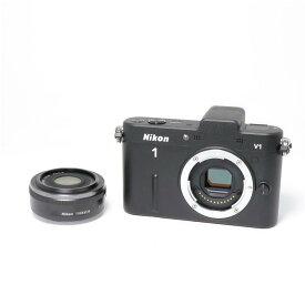 【あす楽】 【中古】 《美品》 Nikon Nikon 1 V1 薄型レンズキット ブラック [ デジタルカメラ ]