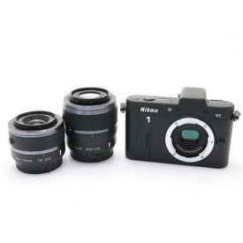 【あす楽】 【中古】 《良品》 Nikon Nikon 1 V1 ダブルズームキット ブラック [ デジタルカメラ ]