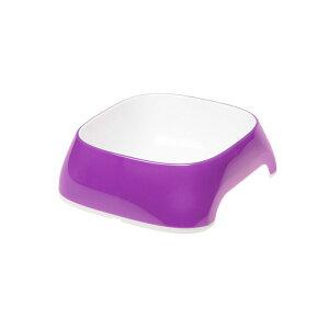 イタリアferplast製 グラム GLAM S 0.4? パープル 小型犬 餌入れ えさ入れ フードボール 犬 猫 軽い プラスチック製 滑り止め付き 食器