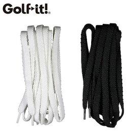 【メール便送料無料】 靴ひも スニーカータイプ 平ひも 黒 白 ゴルフ用品 メンズ レディース ゴルフシューズ スニーカー 登山 ブーツ
