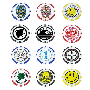【メール便送料無料】 ポーカーチップマーカー X-768 ゴルフ用品 ゴルフマーカー キャラクター ボールマーカー カジノチップマーカー かわいい レディース