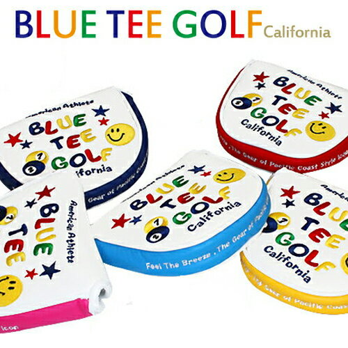 【即納】【メール便送料無料】 BLUE TEE GOLF パターカバー マレット スマイル&ピンボール WS111 / ヘッドカバー おしゃれ レディース かわいい 2ボール ゴルフ用品