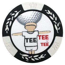 【メール便送料無料】 カジノチップマーカー TEE×TEE MK0163 ゴルフ用品 カジノマーカー ゴルフマーカー ボールマーカー キャラクター