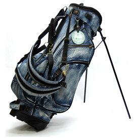 【予約販売/11月下旬発送予定】 19ゴルフ デニム キャディバッグ スタンドバッグ インディゴブルー 色落ち加工 8.5型 ゴルフ用品 おしゃれ 可愛い メンズ レディース