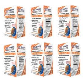 6箱セット ビタミンC 1000mg リポミックス 30包 リポゾーム ビタミンC (ナチュラルオレンジフレーバー)大人気 液体サプリメント Liposomal VITAMIN C