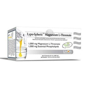 リポスフェリック L-スレオネートマグネシウム 1000mg 大人気の液体サプリメント Lypo-Spheric Magnesium L-Threonate 0.2 fl oz. - 30 Packets