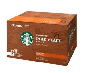 スターバックス コーヒー1号店限定のコーヒー豆が登場!【72個入り】 パイクプレイス キューリグ kカップ K-CUP Starbucks Pike Place