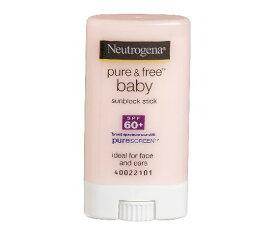 ニュートロジーナ ベビーサンスクリーンSPF60 小さな子にも塗りやすいスティックタイプ13g 100%ナチュラル処方 目にしみない日焼け止め