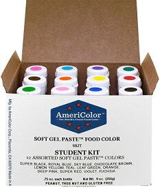 アメリカラー 12色セット Studentカラー#1【21g】Americolor Soft Gel Paste Student Color Kit 12 pc.