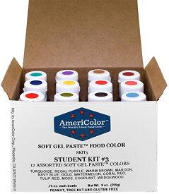 アメリカラー 12色セット Studentカラー# 3【21g】Americolor Soft Gel Paste Student Color Kit 12 pc.