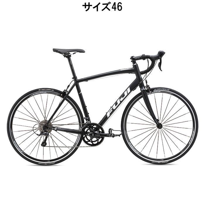 ロードバイク FUJI(フジ) SPORTIF2.1 ダーク ブラック/ホワイト サイズ46(155-165cm)【アウトレット】