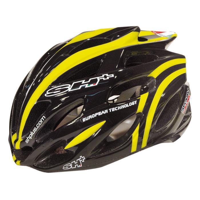 SH+ (エスエイチプラス) SHABLI S-LNIE シャブリ エス ライン ブラック/イエロー ヘルメット S/L 【自転車】【ロードバイク】