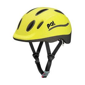 OGK (オージーケー) PAL(パル) ライムイエロー 49-54cm キッズヘルメット 【自転車】