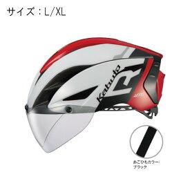 OGK(オージーケー) AERO-R1 エアロR1 G-1ホワイトレッド サイズL/XL ヘルメット