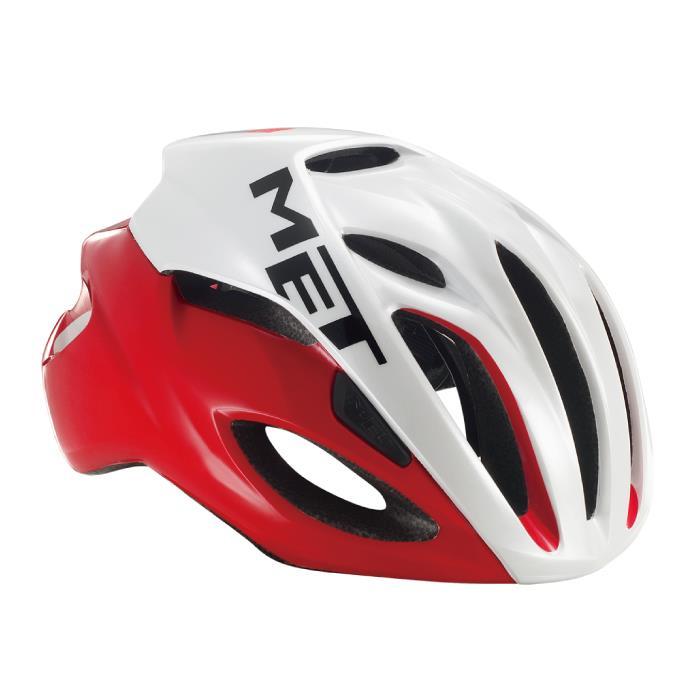 MET(メット) RIVALE HES リヴァーレ レッドホワイト サイズL(59/62cm) ヘルメット