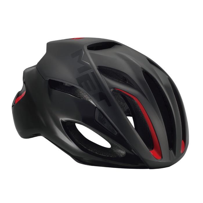MET(メット) RIVALE HES リヴァーレ マットブラック サイズL(59/62cm) ヘルメット