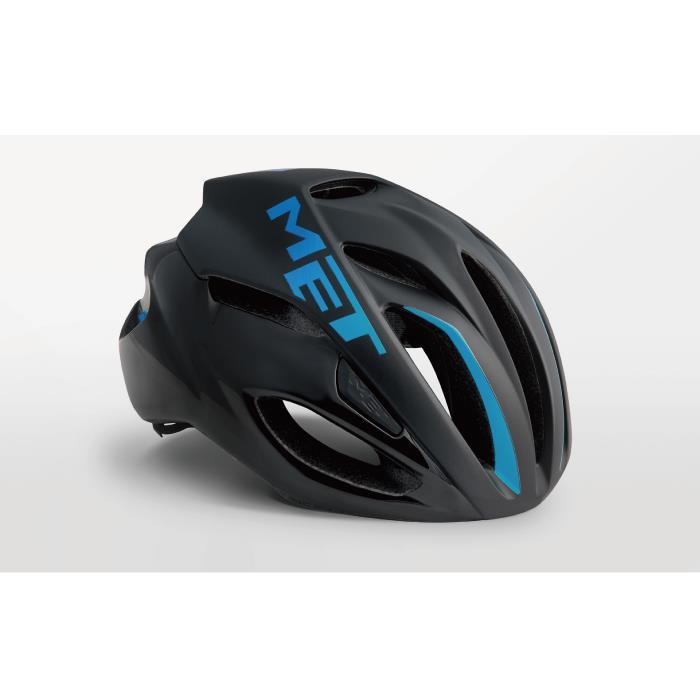 MET(メット) RIVALE HES リヴァーレ ブラック/シアン サイズL(59/62cm) ヘルメット