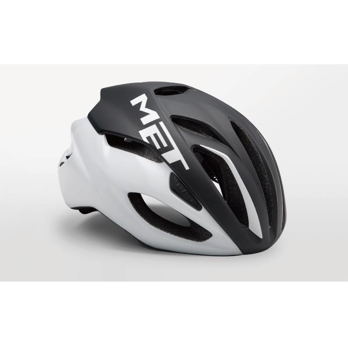 MET(メット) RIVALE HES リヴァーレ ブラック/ホワイト サイズM(54/58cm) ヘルメット