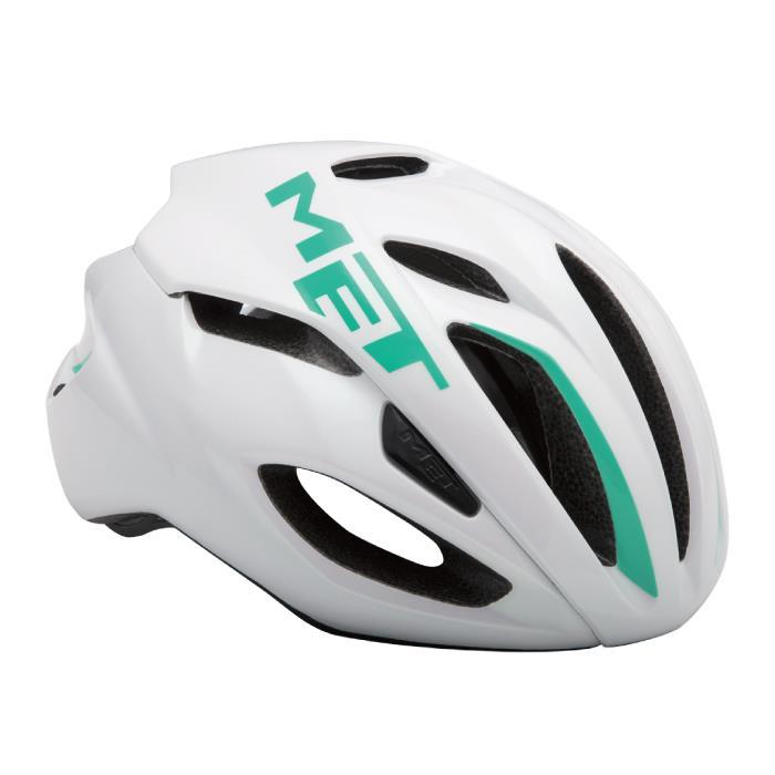 MET(メット) RIVALE HES リヴァーレ ホワイト/エメラルドグリーン サイズS(52/56cm) ヘルメット