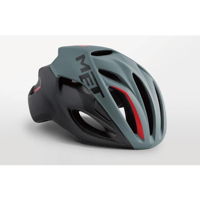 MET(メット) RIVALE HES リヴァーレ グレー/ブラック/レッド サイズL(59/62cm) ヘルメット