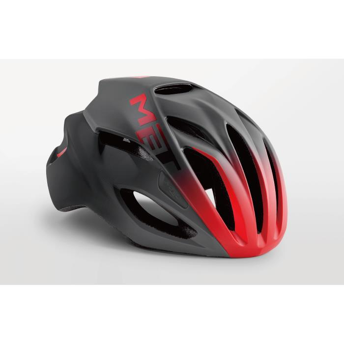 MET(メット) RIVALE HES リヴァーレ ブラック/シェードレッド サイズM(54/58cm) AF ヘルメット