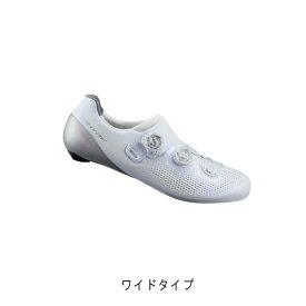 SHIMANO (シマノ) RC9 ホワイト WIDE サイズ44(27.8cm) ビンディングシューズ